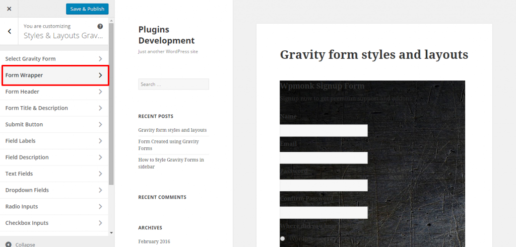 How to Change Background Colour of Gravity Form - WpMonks