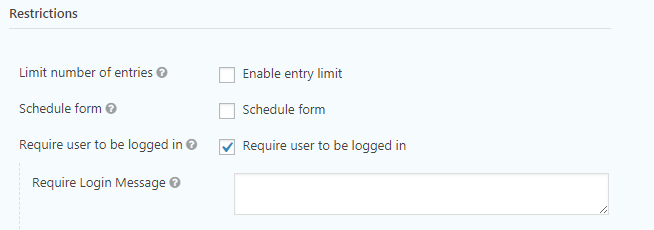 Require User Logged in