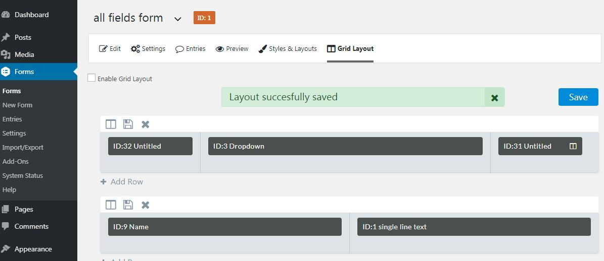 Gravity Forms Grid Layout Plugin | WordPress