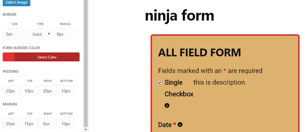How to Style Form Wrapper of Ninja Forms - WPMonks