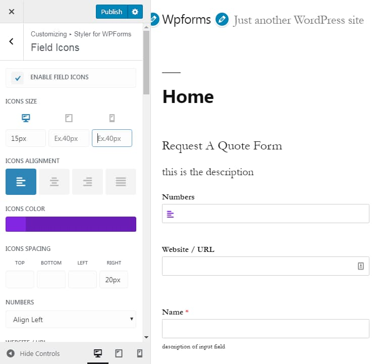 Add Fontawesome Icons in WPForms - WPMonks