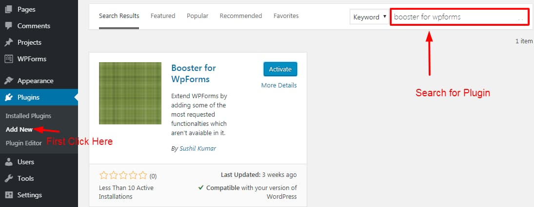 "Download ""Booster for WpForms"""